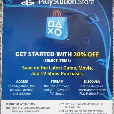 20% Off PSN Store Discount Code PlayStation 4 PS4 Expires 6/30/19 (Read Descr)