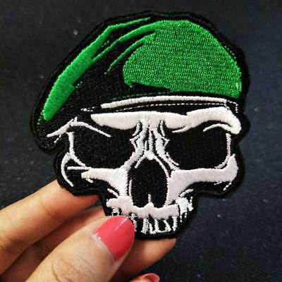 Embroidery iron on Military patch Punk skull badge Army patch for clothes DIY