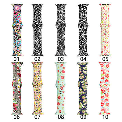 Sport Silicone Strap for Apple Watch iWatch Band 38mm 42 40 44 Mickey Wristband