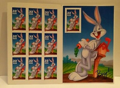Bugs Bunny LOONEY TUNES -  Complete set of 9 .32 US Postage Stamps as shown