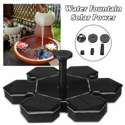 Snowflake Water Floating Pump Solar Power Fountain Greenhouse Irrigation Tools