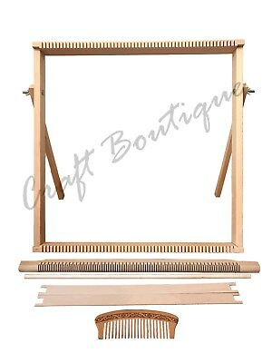 Weaving Loom Kit LARGE With Stand , Wooden Looming Set  | Tapestry Loom Kit