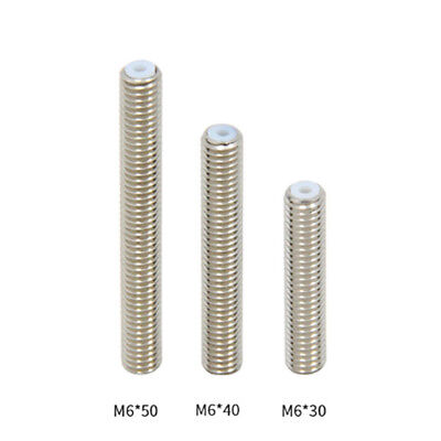 2 X MK8 Extruder PTFE Lined Throat M6 1.75mm PLA , For ANET A8 3D Printer Part