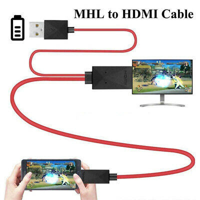 MHL 11Pin Micro USB to HDMI 1080P HD TV Cable Adapter For Android Samsung Phone