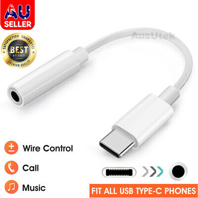 For Samsung Google USB Type C to 3.5mm Headphone Audio Aux Stereo Cable Adapter