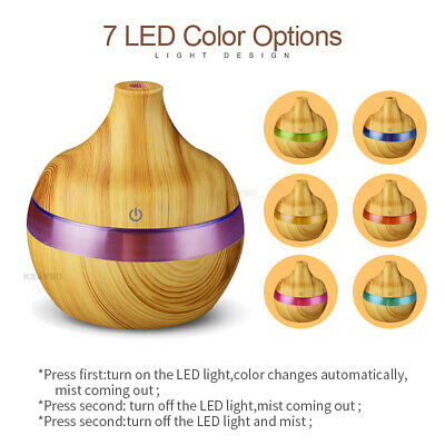 EE300ml USB Electric Aroma air diffuser wood Ultrasonic air humidifier Essential