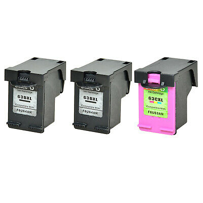 63XL 63 XL Black & Color Ink Cartridge for HP OfficeJet 5255 5258 with New Chip