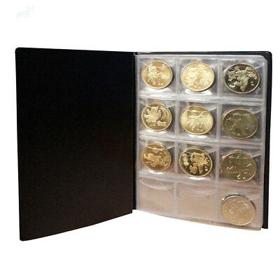 120Pcs Coin Album Holders 10 Pages for Coins Collector Collection Book 3 Colors