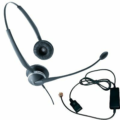 Jabra 2125 Duo Headset Bundle - Headset, Telephone Cable | VoIP, IP, Digital: Gr