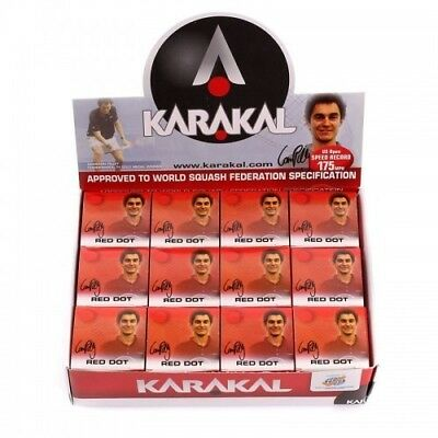 Karakal Squash Balls - Single Red Dot  1 Ball, 2 Balls, 3 Balls