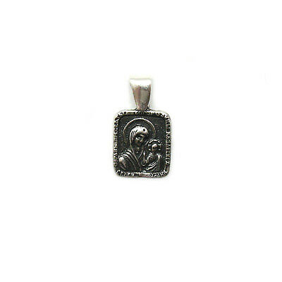 Sterling silver religious pendant solid hallmarked 925 Mother of God PE001359