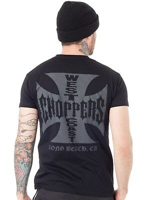 Tee shirt West Coast Choppers OG Cross Solid Noir