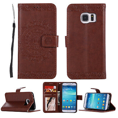 Big Flower Pattern PU Leather Wallet Cover Case For Samsung Huawei Mate Sony LG