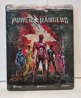 Power Rangers - Blu Ray Steelbook + dvd  - Edition Collector - zone 2 - NEUF