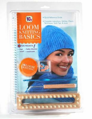 KB Knitting Board Loom Knitting Basics Kit Full Instructions and Accessories