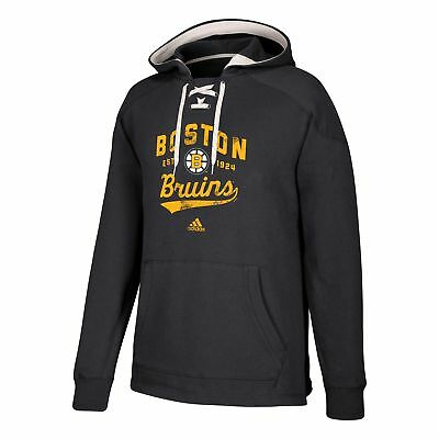 NHL Boston Bruins adidas Fleece Climawarm Rundhals Fan Sweatshirt Top Herren Weitere Wintersportarten