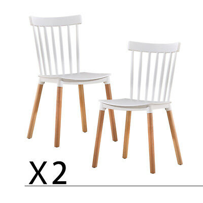 Dining Chair Set of 2 Windsor Style Dining Room Kitchen Chairs Modern US Stock