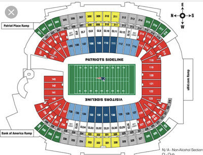 2 Tickets New England Patriots vs Buffalo Bills 12/23/18
