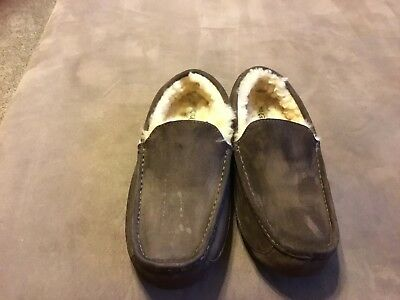 7c0a921eb22 UGG ASCOT WATER-RESISTANT Suede Moccasin Slippers, Men's Size 10EEE ...