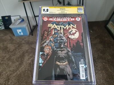 Batman #1second print Rebirth CGC SS 9.8 2x signed by Tom King and David Finch