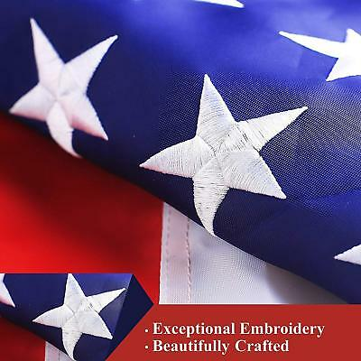 G128 – American Flag US USA | 3x5 ft | DOUBLE SIDED, Embroidered Stars