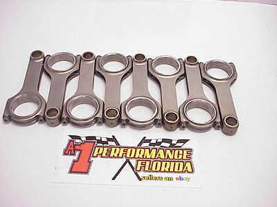 "8 Scat 6.00"" Large Journal H-Beam 4340 Connecting Rods SBC Eagle Crower Lunati"