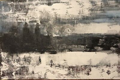 PAINTING ON CANVAS ABSTRACT By Chris Butler 2017 Landscape With Figures