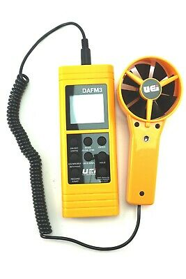 UEi DAFM3 DIGITAL AIRFLOW CFM HVAC HRAC DUCTWORK WIND SPEED METER & CASE