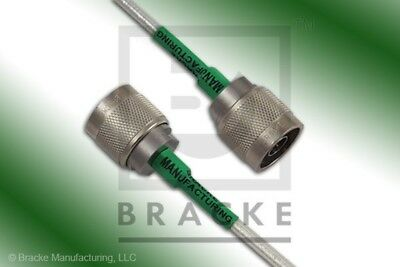 18 Ghz N Male Flexible Cable Assembly BRACKE BM95001.96 96 INCHES