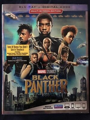 Black Panther Blu Ray/Digital With Slipcover
