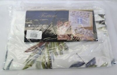 "Violet Linen Fortune Decorative Sheer 60"" x 15"" Window Valance - Peach Leaves T3"
