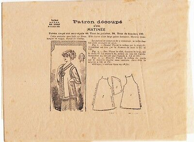 French Sewing Pattern Supplement 1910s Mode Nationale 1909 Morning/ Bed Jacket