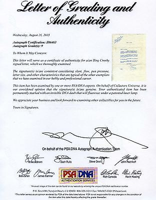 Bing Crosby Signed Autographed Letter Psa/Dna 1936 Full Loa + Graded 9!