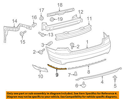 Genuine Volvo Front Bumper Molding Outer Left 39993316