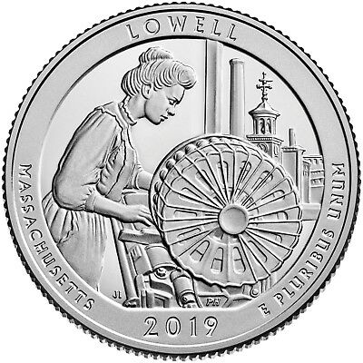 10-2019 S 25C Lowell Nation Park Quarter Proof Pristine Gradable Proof In Stock