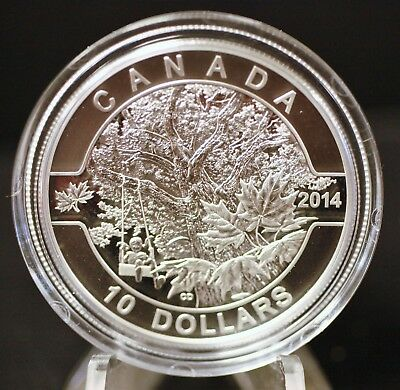 Canada 2014 $10 pure silver Old Maple Tree O Canada Series Proof. 1168