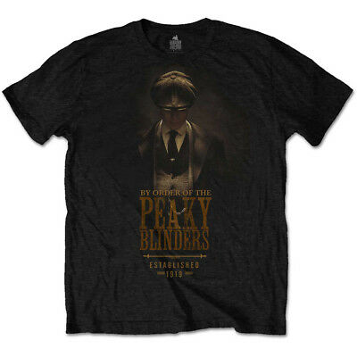 Official By the Order of the Peaky Blinders Established 1919 Black Mens T-shirt