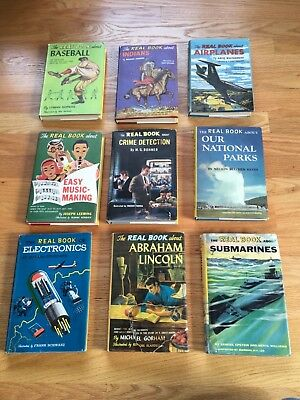 Vintage - Lot of 9 Garden City Real Books - Hard Cover - Dust Jackets - Good