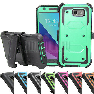 Hybrid Shockproof Stand Case Holster Cover For Samsung Galaxy J7 V 2017/J7 Perx