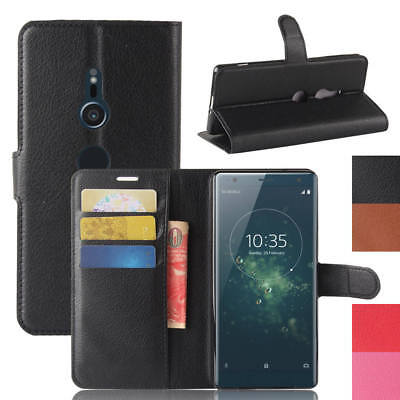 PU Oil Wax Stand Cover Flip Card Slot Wallet Case For Sony Xperia XZ2 Compact