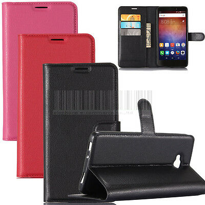 """For Huawei Ascend XT 6.0"""" Card Slot PU Leather Wallet Case Kickstand Phone Cover"""