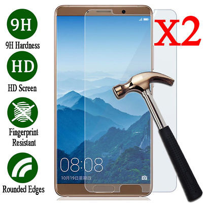 2Pcs Screen Protector Tempered Glass Film Skin Cover For Huawei Mate 10 / 10 Pro