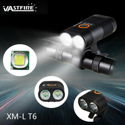 USB Rechargeable 10000LM 2xT6 LED Front MTB Bicycle Bike Light Torch+ Bike Mount