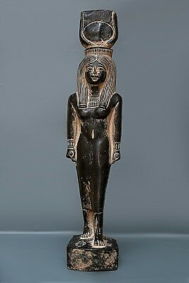 ANCIENT EGYPT EGYPTIAN ANTIQUES Hathor Sky Goddess of Love Statue 1570-1070 BC