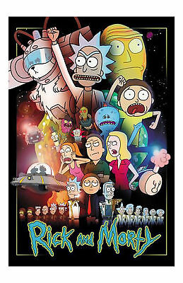 Rick And Morty Series Art Silk Poster 8x12 24x36 24x43