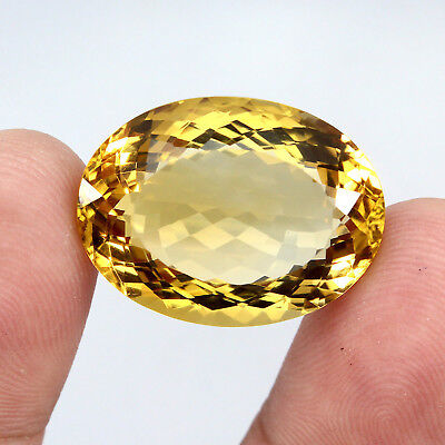 34.34 ct. Oval 100 % natural Unheated Top Yellow Golden Citrine Brazil