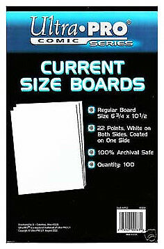 ULTRA PRO Comic Book Accessories - Backing Boards Current Size