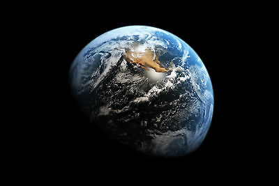 Planet Earth From Space Art Silk Poster 8x12 24x36 24x43