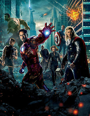 The Avengers Art Silk Poster 8x12 24x36 24x43