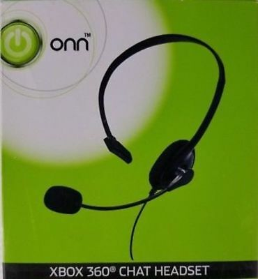 0564d12ff68 Xbox 360 Gaming Chat Headset Controller 2.5mm Onn Mic Mute Controls Black  Wired